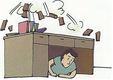 地震漫画素材图片